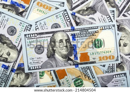 American money, a background - stock photo
