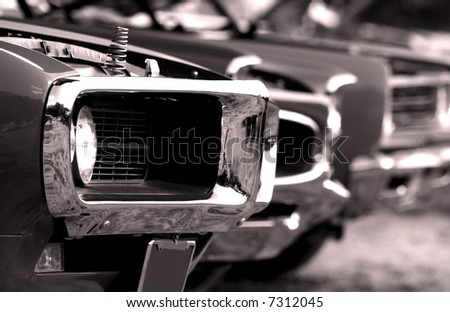 American Muscle Cars - stock photo