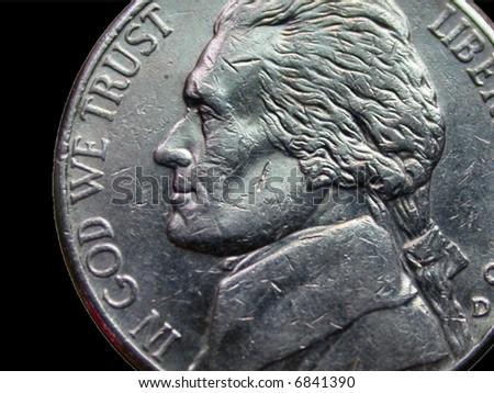 American Nickel - stock photo