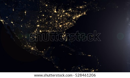 American night lights world map composition stock illustration american night lights world map composition elements of this image furnished by nasa gumiabroncs Choice Image