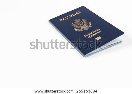American Passport - stock photo