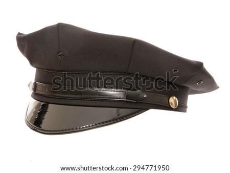 american police hat studio cutout - stock photo