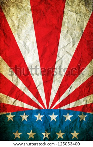 American poster. A grunge american poster - stock photo