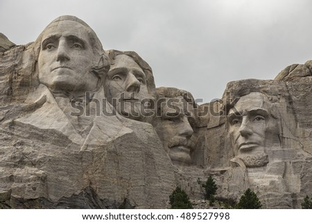 American Presidents At Mount Rushmore