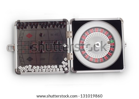 American Roulette table game sealed board game - stock photo