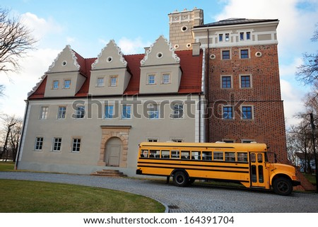 american school bus - stock photo
