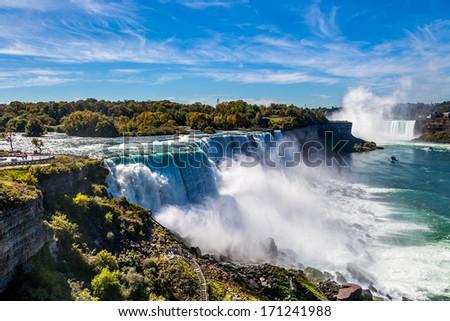 American side of Niagara falls, NY, USA - stock photo