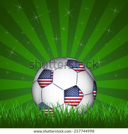 American soccer ball - stock photo