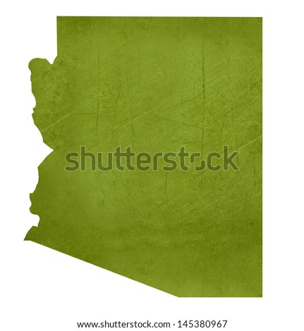 American state of Arizona isolated on white background with clipping path.