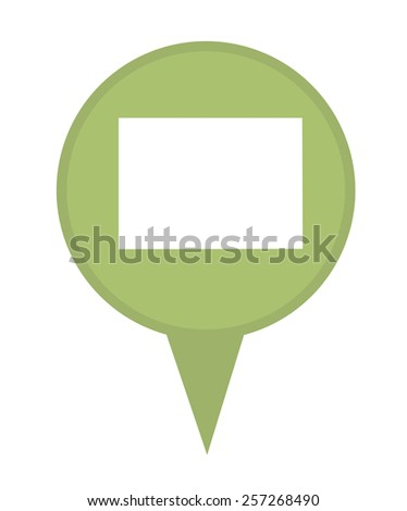 American state of Colorado marker pin isolated on a white background. - stock photo