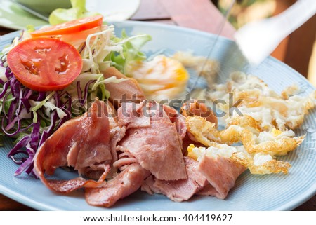 American style breakfast set, fried rice