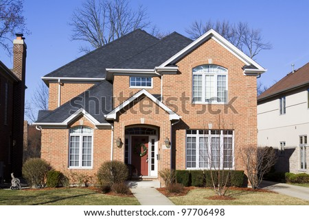 American Traditional Home - stock photo