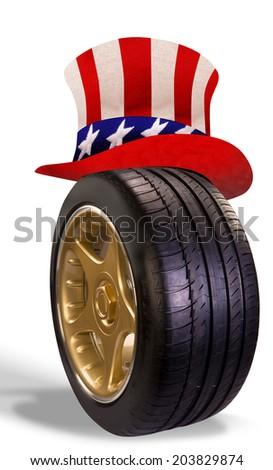 American Transportation. - stock photo
