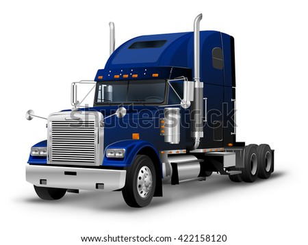 American Truck Tractor White Background