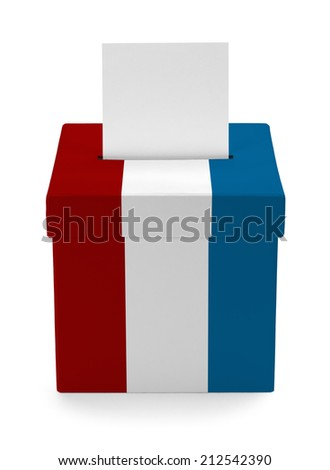 American Voting Box Isolated on White Background. - stock photo