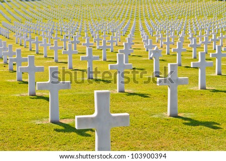 American War Cemetery (World War II), Florence, Tuscany, Italy - stock photo
