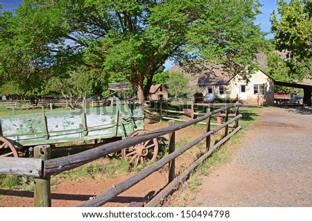 American wild west countryside, Capitol Reef national park, USA - stock photo