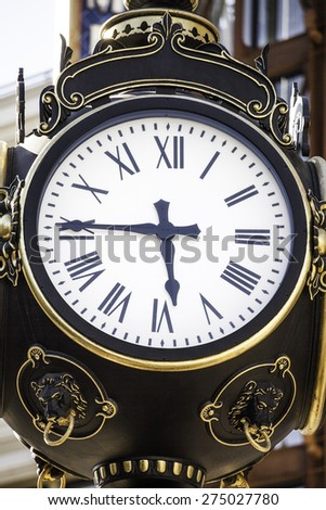 Americana old clock face - stock photo
