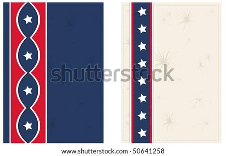 Americana Postcards - RASTER version - stock photo