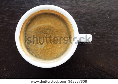 Americano , a style of coffee prepared by brewing espresso with added hot water - stock photo