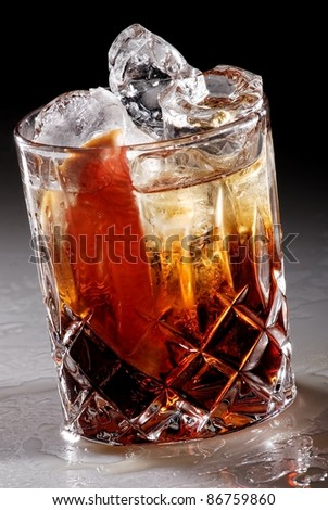 Americano Cocktail Isolated