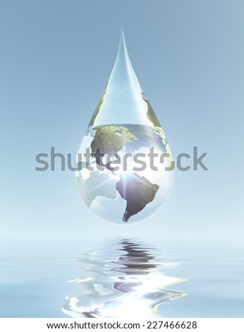 Americas Drop Elements of this image furnished by NASA - stock photo