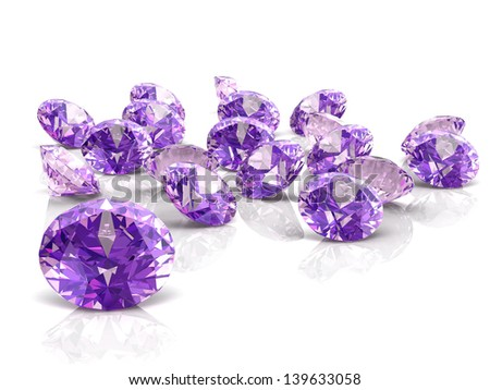 amethyst (high resolution 3D image) - stock photo