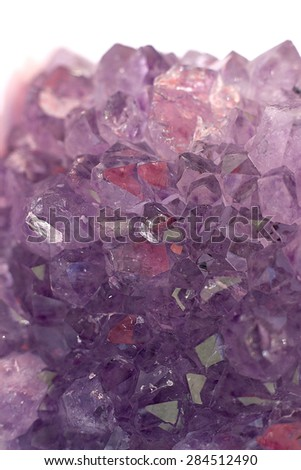 amethyst on a white background - stock photo