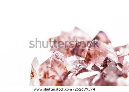 amethyst rock - stock photo