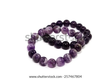 amethyst sphere isolated - stock photo