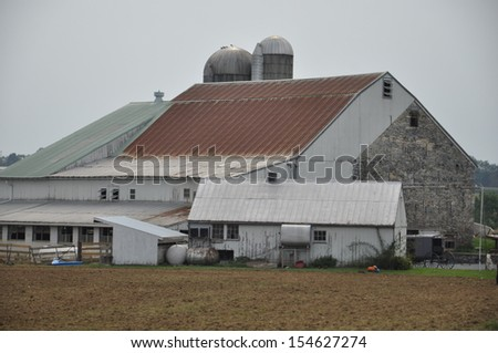 Amish Barn in Lancaster, Pennsylvania - stock photo