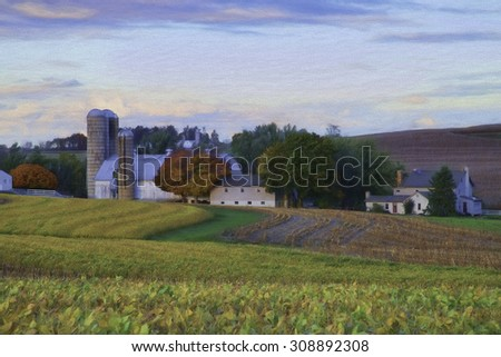 Amish Farm in Lancaster County Pennsylvania