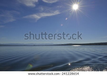 Ammersee in Bavaria - stock photo