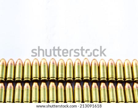 ammo isolated on white  - stock photo
