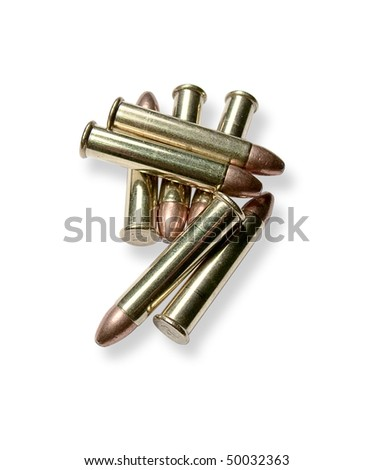 Ammunition on a white background