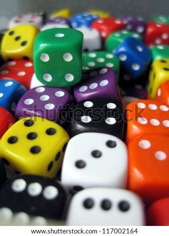 amount of dices - stock photo