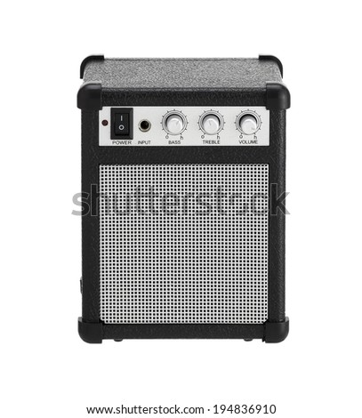 amp or amplifier on a white background Front