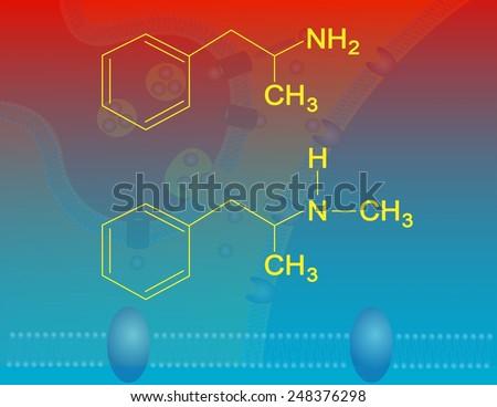 Amphetamine and methamphetamine - stock photo
