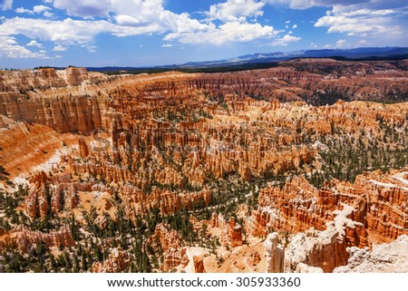 Amphitheater Hoodoos Bryce Point Bryce Canyon National Park Utah