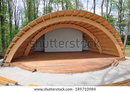 Amphitheater in the park summer stage - stock photo