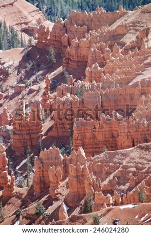 Amphitheater seen from North view in Cedar Breaks National Monument, UT, USA  - stock photo