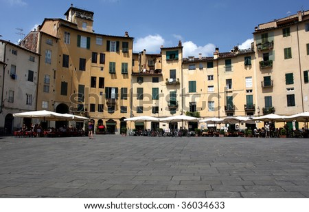 amphitheater square - Lucca (italy)