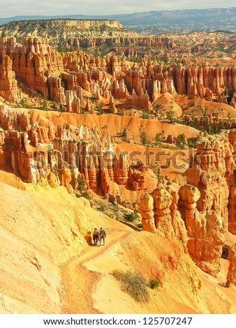 Amphitheater, view from Sunset point, Bryce Canyon National Park, Utah, USA
