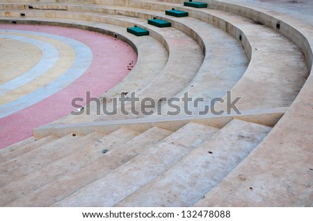 Amphitheatre with lots emty seats