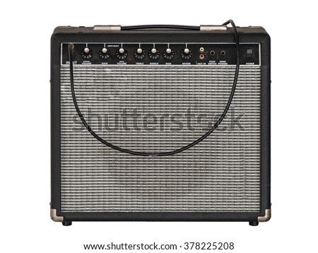 amplifier speaker isolated on white background