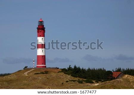 Amrum lighthouse - stock photo