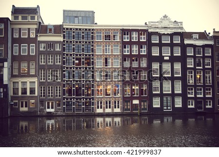 Amsterdam buildings, Holland