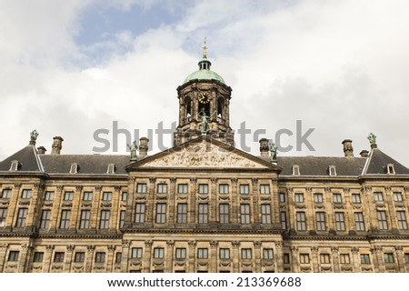 amsterdam canals and streets in the historic center - stock photo