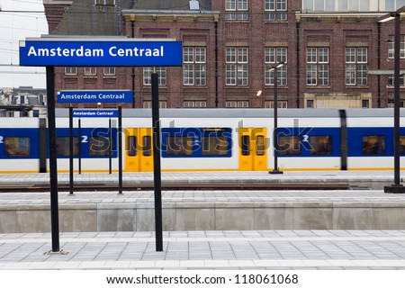 Amsterdam Central Station - stock photo