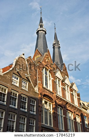Amsterdam, Church in Jordaan, Holland.